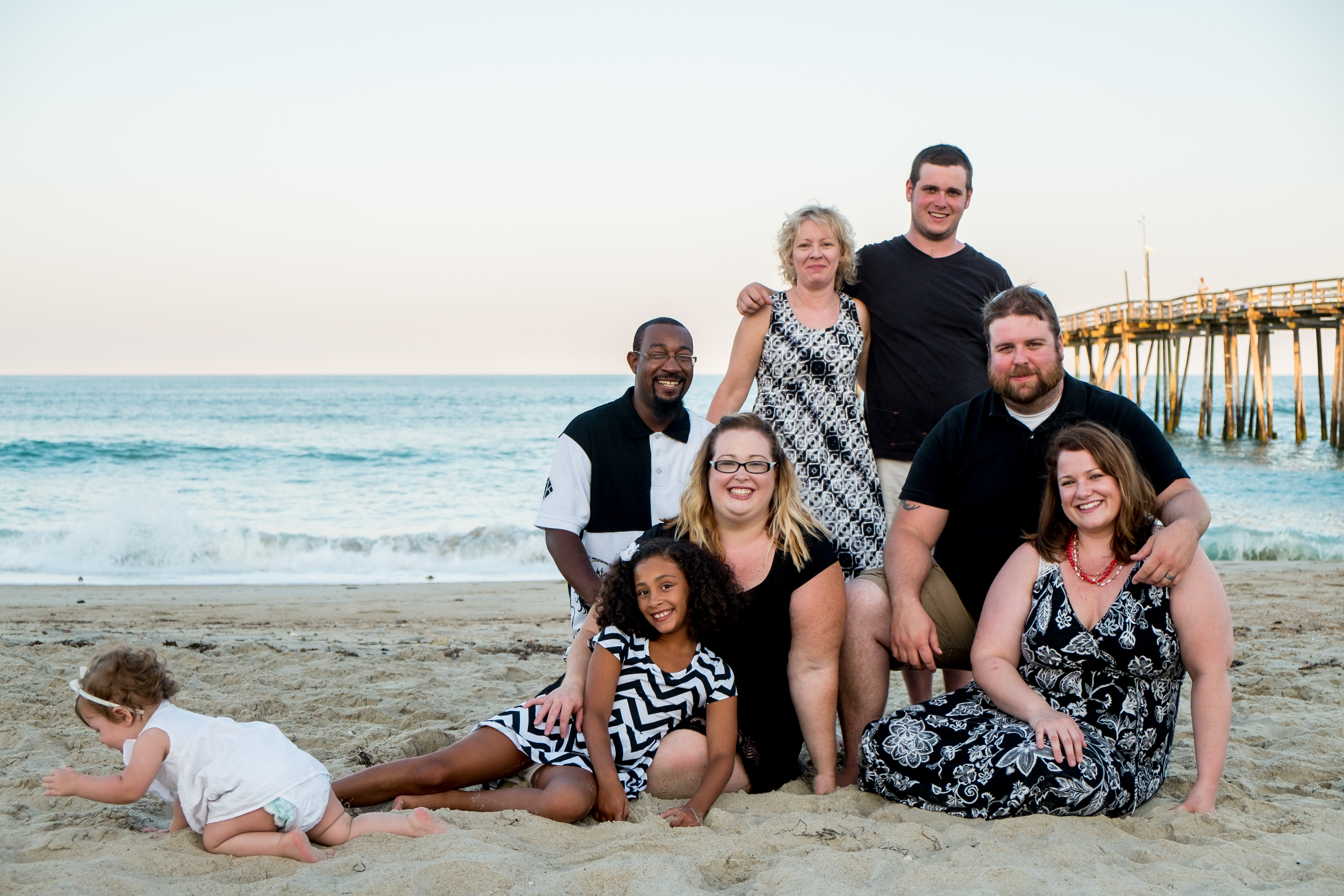 A family photo taken at Cape Hatteras, NC.